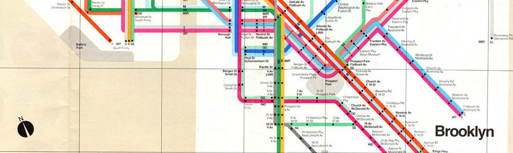 Photo of Vignelli subway map